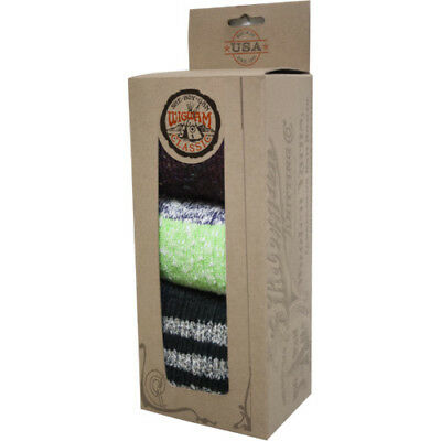 Wigwam Womens Classic Holiday Gift Box Underwear Walking Socks - Natural Purple