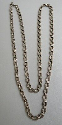Vintage period art deco sterling silver chain 24 inches