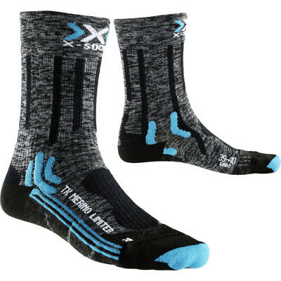 X Socks Trekking Merino Limited Womens Underwear Walking - Grey Black All Sizes