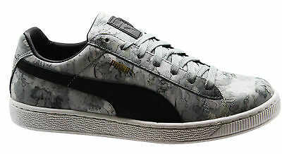 PUMA BASKET CLASSIC Camo Mens Trainers Grey Camouflage Lace