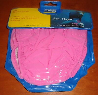Baby Girls ZOGGS Pink Adjustable Swim Nappy Age 3-24 Months NEW