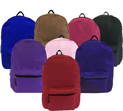 """15"""" Basic Backpack Bags Assorted Colors Case Lot 120 Wholesale Soft Mesh Cover"""