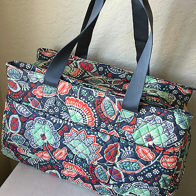 Nomadic Floral Triple Compartment Travel Bag by Vera Bradley NEW  NWT $108