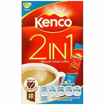 Kenco 2-in-1 Smooth White Coffee 140 g (Pack of 4)