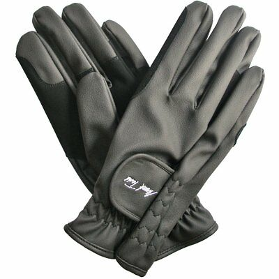 Mark Todd Synthetic Unisex Gloves Everyday Riding Glove - Black All Sizes