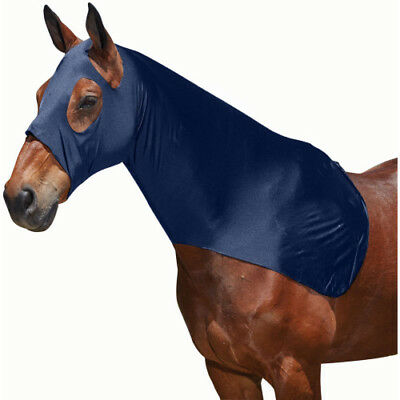 Weatherbeeta Lycra Unisex Horse Rug Stretch Hood - Navy All Sizes