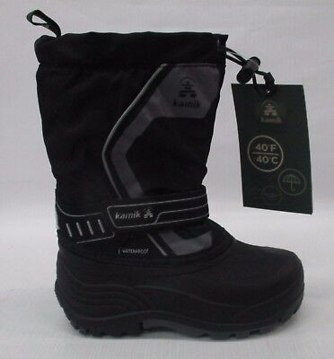 07a7c21159ce Kamik Youth Girls Snowcoast Winter Snow Boot NK8420 Black Charcoal Size 12