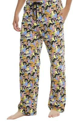 XL New Mens Bobs Burgers TV Show Belcher Kids Cotton Lounge Pajama Punk Pants