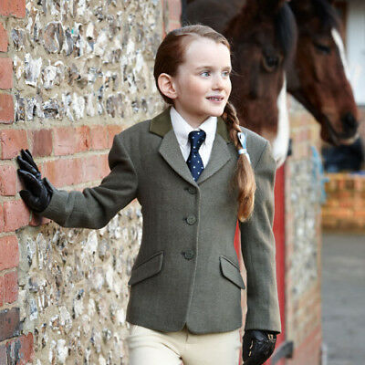 Dublin Cubbington Childs Tweed Kids Jacket Competition Jackets - Green All Sizes