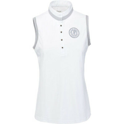 Pikeur Jenna Ladies Sleeveless Womens Shirt Competition - White All Sizes