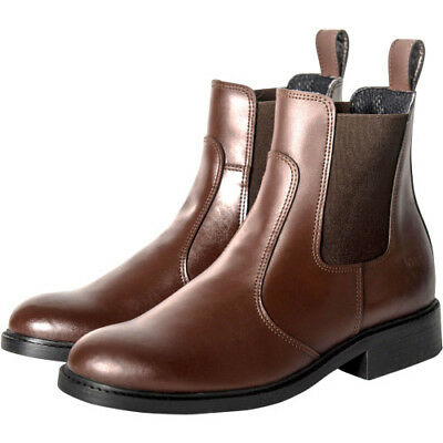 Derby House Classic Pull On Womens Boots Jodhpur - Brown All Sizes