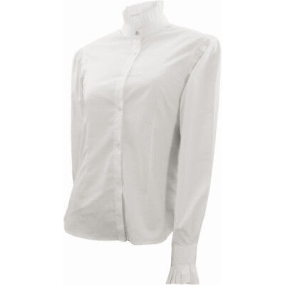 Equetech Frilly Womens Shirt Competition - White All Sizes