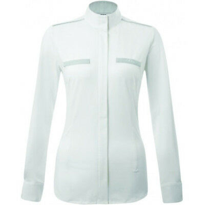 Aa Platinum Monaco Ladies Dress Womens Shirt Competition - White/grey All Sizes