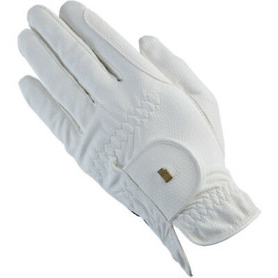 Roeckl Chester Unisex Gloves Competition Glove - White All Sizes