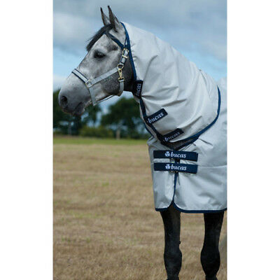 Bucas Sun Shower Combi Unisex Horse Rug Neck Cover - Silver All Sizes