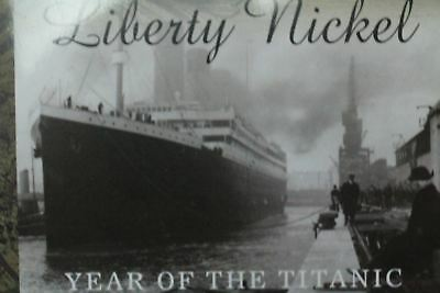 1912 Liberty Nickel Yr Of Titanic W/Literature&3 Vanishing Coins Of 20th Centry