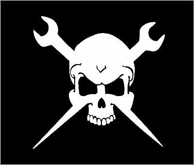Ironworker Life Skull vinyl decal//sticker 14x14 Ironworker rigger wrenches