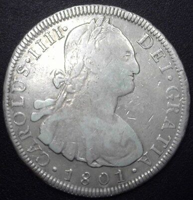 Bolivia 1801-Pts Pp Silver 8 Reales  Very Fine+