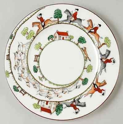 Crown Staffordshire HUNTING SCENE Luncheon Plate 95167