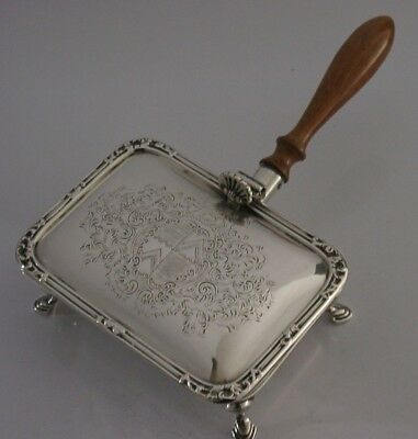Quality English Solid Sterling Silver Silent Butler Cigar Ashtray 1963