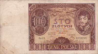 100 Zlotych Fine Banknote From Poland 1934!pick-75