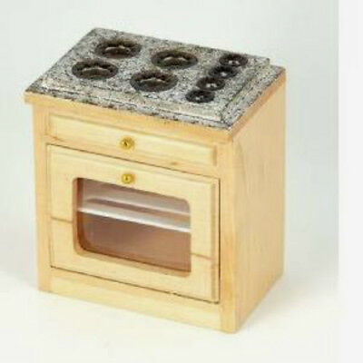 Dolls House Miniature: Wooden Cooker / Oven Unit  : 12th scale