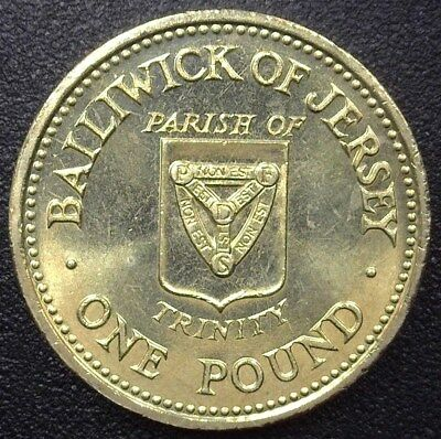 Jersey 1988 Pound - Trinity - Gem++ Uncirculated Km#73