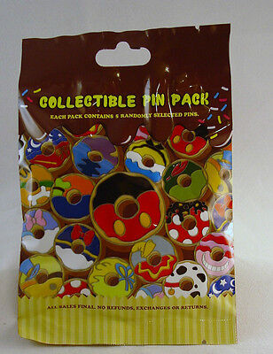 Disney Pin Mystery Pack Frosted DONUTS Collectible Random SEALED Set of 5