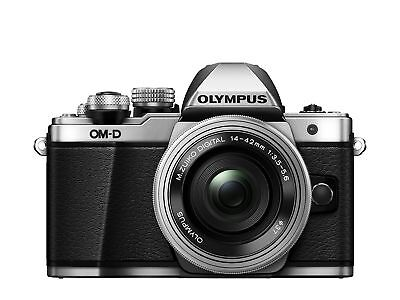 Olympus OM-D E-M10 Mark II Compact System Camera in Silver + 14-42 EZ Lens