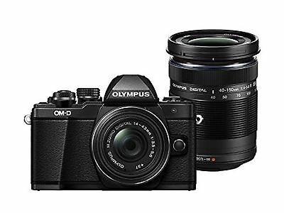 Olympus OM-D E-M10 Mark II Compact System Camera - 14-42 EZ Lens + 40-150 mm ...