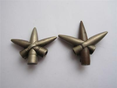 VINTAGE WW1, WW2 'ENTWINED BULLETS' TRENCH ART x2!