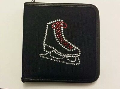 Sparkly Ice Skating Dress Boot (Red Laces )  CD Case