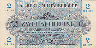 2 Schilling Vf Crispy Banknote From Allied Forces In Austria 1944!pick-104