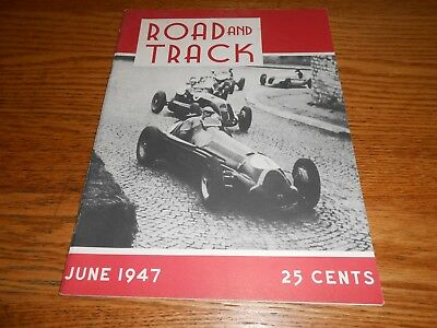 JUNE 1947 ROAD and TRACK MAGAZINE OLD REPRODUCTION of Vol. 1, No. 1, 47 R & T