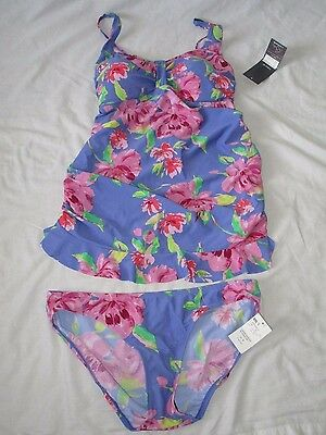 Oh Baby By Motherhood Maternity 2 Pc Tankini Swimsuit Floral Print S Nwt