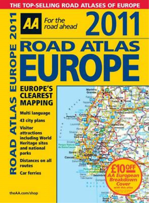 Road Atlas Europe 2011 (AA Atlases and Maps), AA Publishing, Used; Good Book