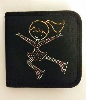 Sparkly Ice Skating dress CD Case  (Pink Dress ) Jumping Girl