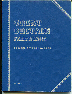Great Britain Farthing 1902-1936 Complete Collection + Folder KEVII KGV (36 pcs)