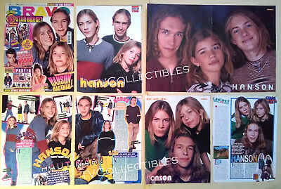 Pinups Poster Clippings Lot~ Boyband HANSON ~1990s ~Isaac ~Taylor ~Zac ~Bravo