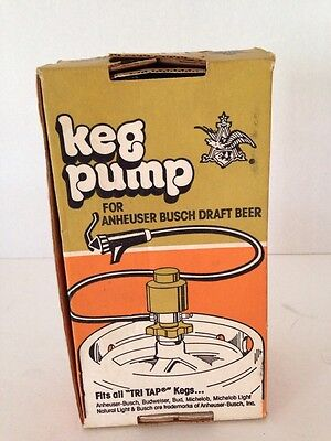 tap rite keg pump anheuser busch products vintage new in box
