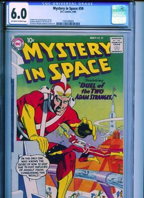 Mystery In Space #59 CGC 6.0 OW/White Adam Strange DC Gil Kane Murphy Anderson