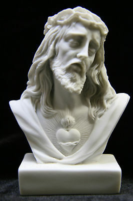 Bust of Jesus Christ Sacred Heart Catholic Statue Sculpture Made in Italy