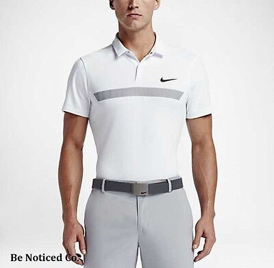2ac4ad35 Nike Momentum Fly Sphere Graphic Men's Slim Fit Golf Polo 2XL White Gray New