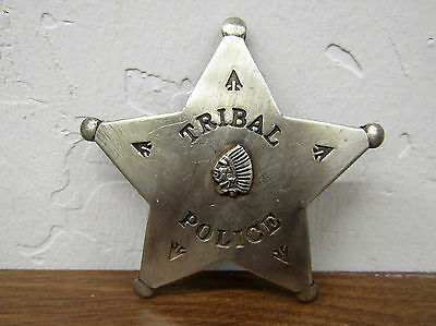 Deluxe Copper/Silver Law Star Badge Tribal Police Vintage-Look Patina