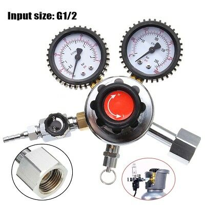CO2 Regulator Dual Gauge Beer Carbon Dioxide Bar Soda Draft Beer Home Brew Gas