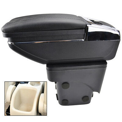 Car Armrest For Ford Focus 2 Mk2 2005-2011 Rotatable Storage Box Arm Rest
