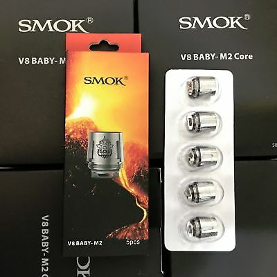 5x SMOK V8 Baby M2 Core Replacement Coil for Stick V8 Kit / TFV8 Big Baby Beast