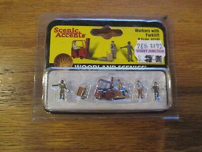 NEW Woodland Scenics Workers w/Forklift N A2192 w Free ship!