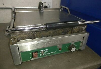 Waring Commercial Panini Supremo wpg250 Grill WPG 250 tested working
