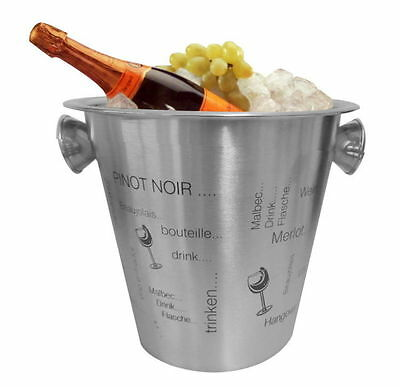 Stainless Steel Champagne Cooler Wine Beverages Bottles Ice Bucket